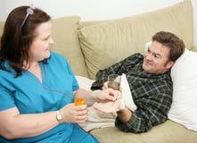 home läkarbehandling för hälsa Royaltyfri Fotografi