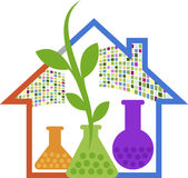 Home lab herbal logo Stock Photography