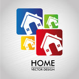 Home labels Royalty Free Stock Photography