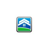 Home land vector logo royalty free illustration