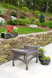 Home landscaping. Well maintained lanscaping of a residential hom Stock Photography