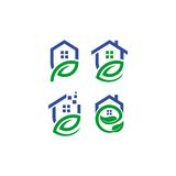 Home leaf vector logo Royalty Free Stock Image