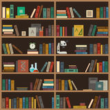 Home library flat illustration. Stock Photos