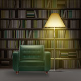 Home library interior Royalty Free Stock Photo
