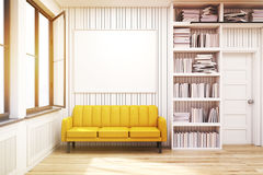 Home library with a sofa Stock Photography