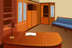 Home library vector Stock Photography