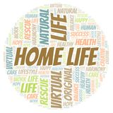 Home Life word cloud. Wordcloud made with text only royalty free illustration
