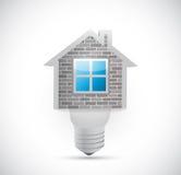 Home light bulb illustration design Stock Photos