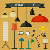 Home light icons set. Stock Image