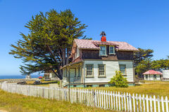 Home of lightkeeper of Point Cabrillo Lighthouse Stock Images