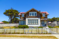Home of lightkeeper of Point Cabrillo Lighthouse Royalty Free Stock Photography