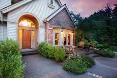 Home lights shine stock image