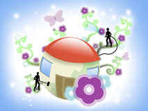 Home like little planet Royalty Free Stock Images