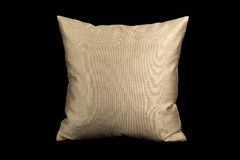 Home  linens and pillows on a black background. Linens and pillows on a black background Royalty Free Stock Photography
