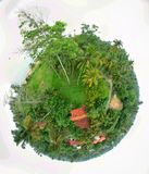 Home little planet stock image