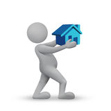 Home Loan. Easy Home loan theme with 3d Man royalty free stock photo