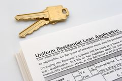 Home Loan. Paperwork royalty free stock images