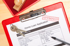 Home loan application form Stock Images