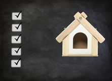 Home loan approved. Check list stock photos
