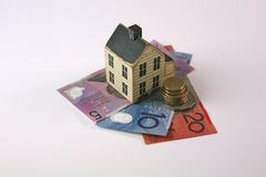 Home loan with the Australian dolor royalty free stock photo