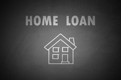 Home Loan concept drawn on blackboard. Home Loan Royalty Free Stock Images