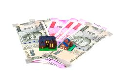 Home loan. Concept shot of home loan on white background stock images