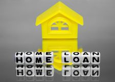 Home loan with design of house Royalty Free Stock Photography