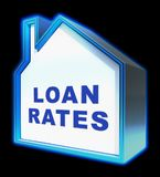 Home Loan Rates Represents Housing Credit 3d Rendering. Home Loan House Rates Represents Housing Credit 3d Rendering Royalty Free Stock Photos