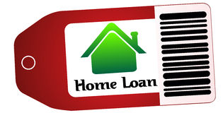 Home loan in tag Royalty Free Stock Photo