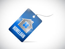 Home loan tag illustration design Royalty Free Stock Photos