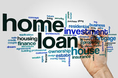 Home loan word cloud. Concept on grey background stock photos