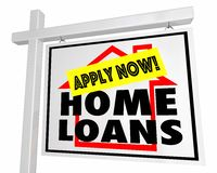 Free Home Loans Mortgage Apply Now House For Sale Sign 3d Illustration Royalty Free Stock Photo - 93407115