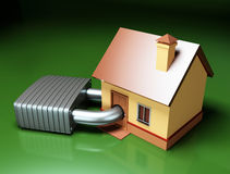 Home with lock Royalty Free Stock Image