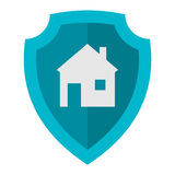 Home lock icon vector. Royalty Free Stock Image