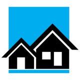 Home logo. Design on blue background Stock Photo