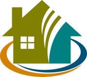 Home logo. A vector drawing represents home logo design Stock Photography