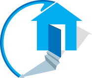 Home logo. Illustration art of a home logo with isolated background Royalty Free Stock Photo