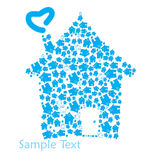 Home  logo Royalty Free Stock Images