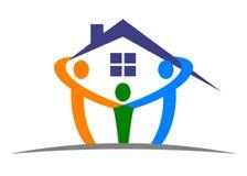 home logo för omsorg Arkivbilder