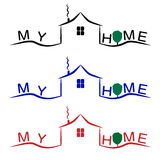 Home logo . house icon. Roof and home logo . house icon Stock Photo