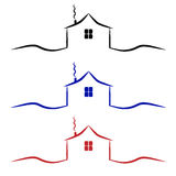 Home logo . house icon. Roof and home logo . house icon Stock Image