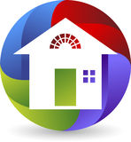 Home logo. Illustration art of a home logo with  background Royalty Free Stock Photography