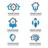 Home logo set design Stock Photography