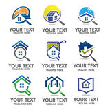 Home logo set vector Royalty Free Stock Images