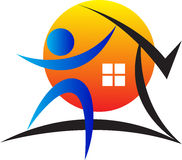 Home logo Royalty Free Stock Photography