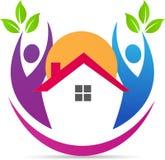 Home logo. A vector drawing represents home logo design stock illustration
