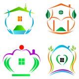 Home logos. Decorative home logos design used for real estate purpose Stock Photos