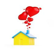 Home love heart. On white background Royalty Free Stock Photos