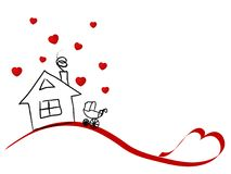 Home for lovers Stock Image