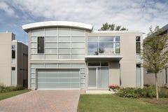 HOME luxuosa moderna Foto de Stock Royalty Free